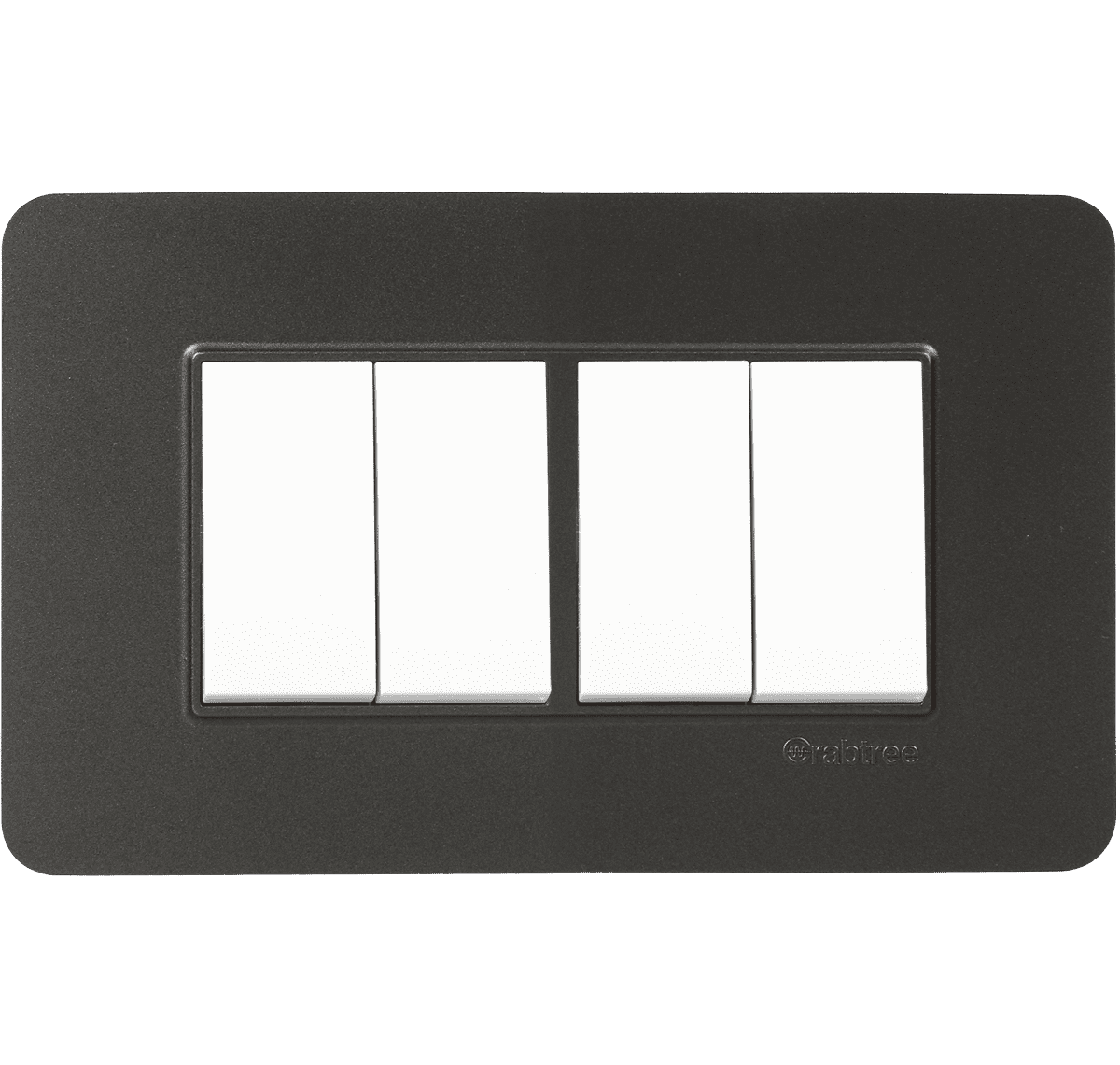 Crabtree - 4 M Front Plate with Pillar