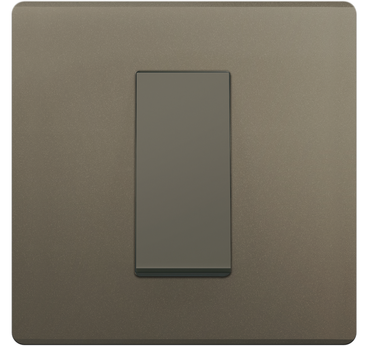 Crabtree - 1 M cover plate Grey