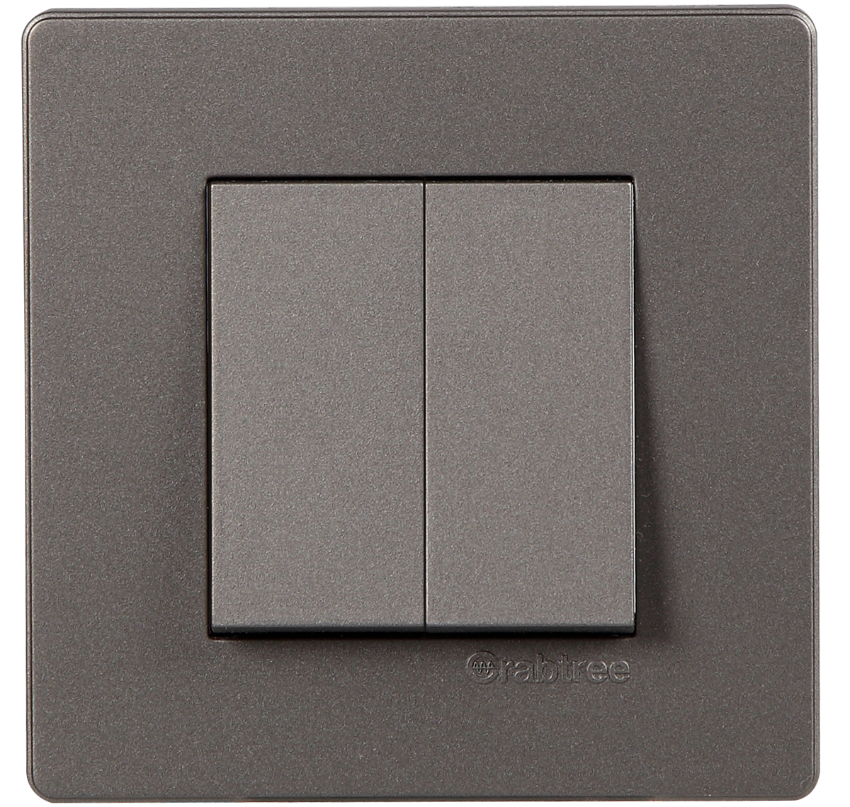 Crabtree - 2 M cover plate Grey
