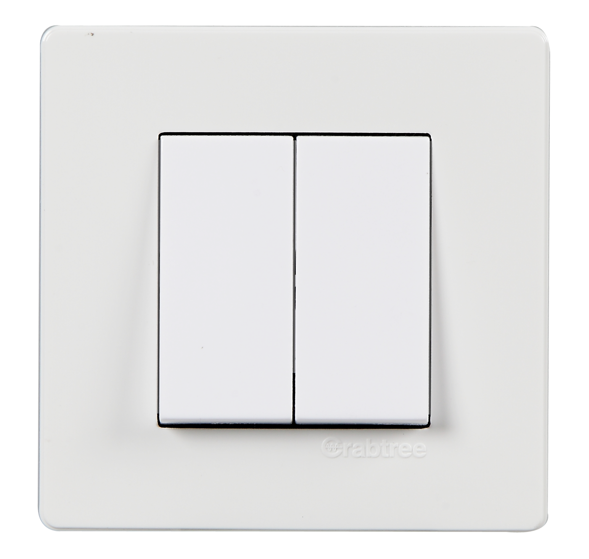 Crabtree - 2 M cover plate white