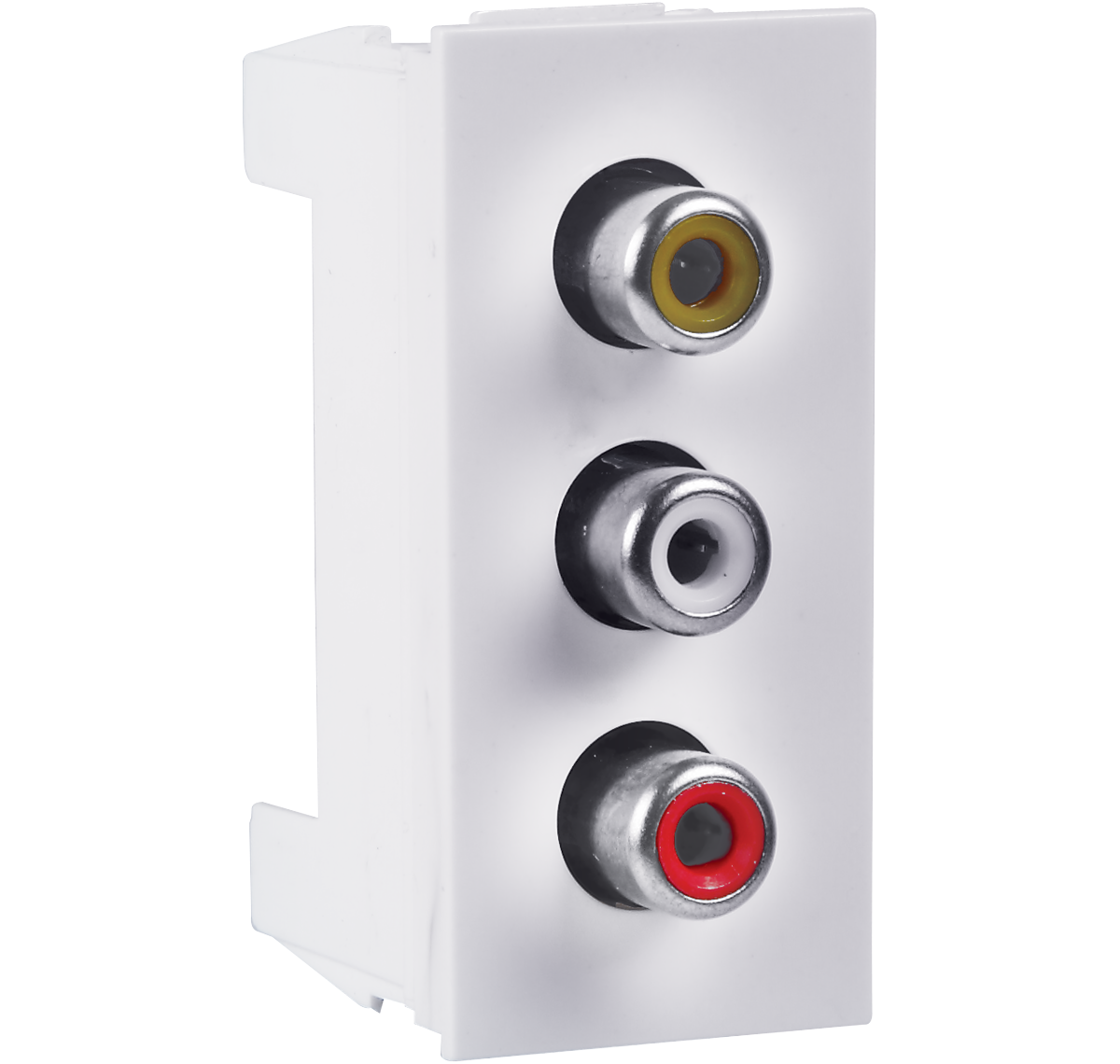 Crabtree - Triple RCA AV socket
