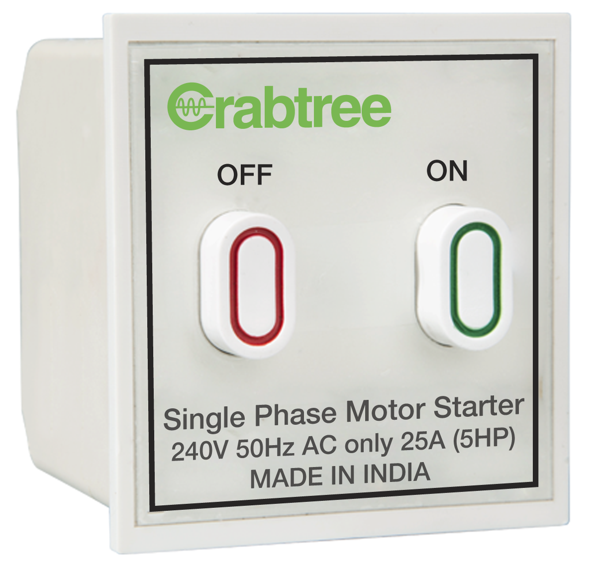 Crabtree India 25a Motor Starter Switch Single Phase