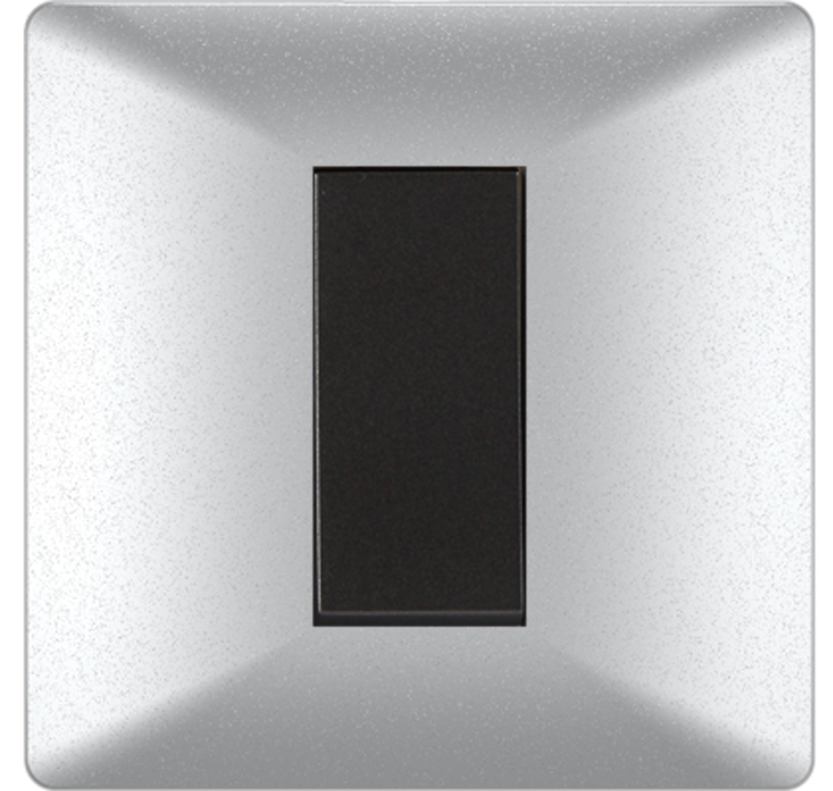 Crabtree - 1 M cover plate misty silver